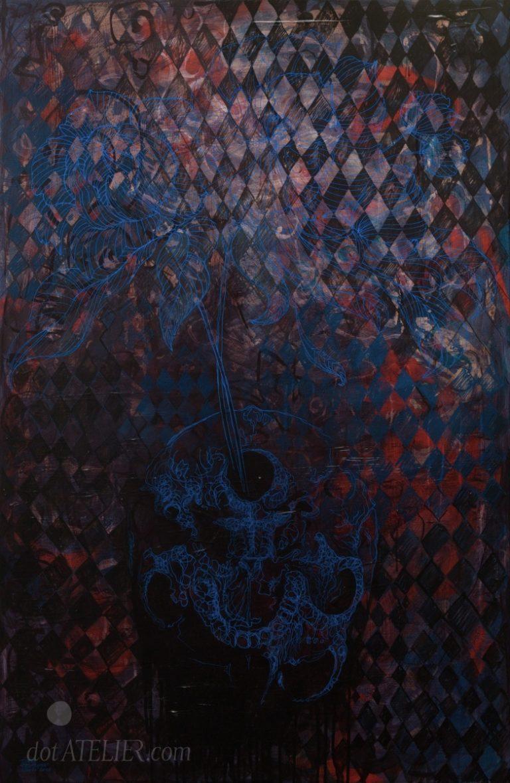 Obraz na prodej HAMLETOVA VÁZA malba akrylem