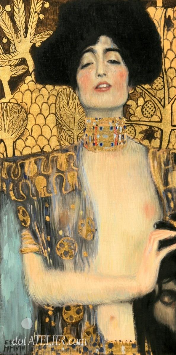 Obraz JUDITA A HOLOFERNES – REPRODUKCE – Gustav Klimt