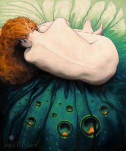 Malovaný obraz ženského těla