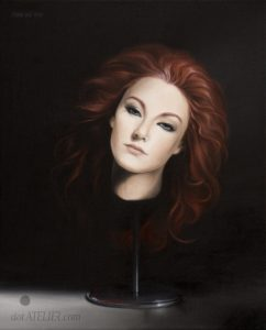 Hlava ženy – surrealismus