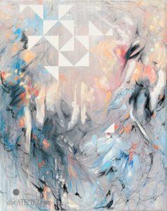 Abstrakce na plátně