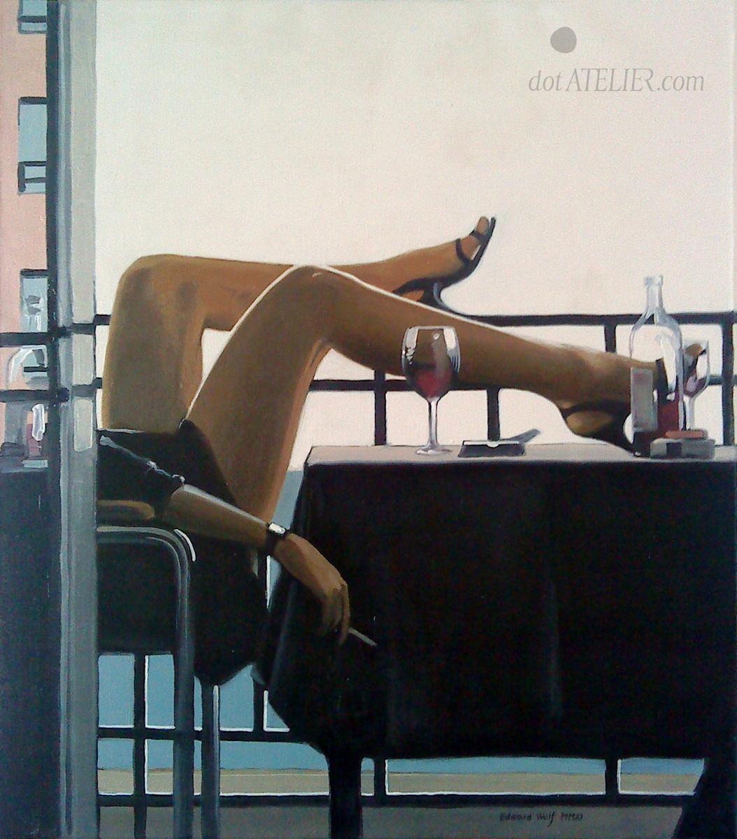 Morning legs Vettriano The Temptress