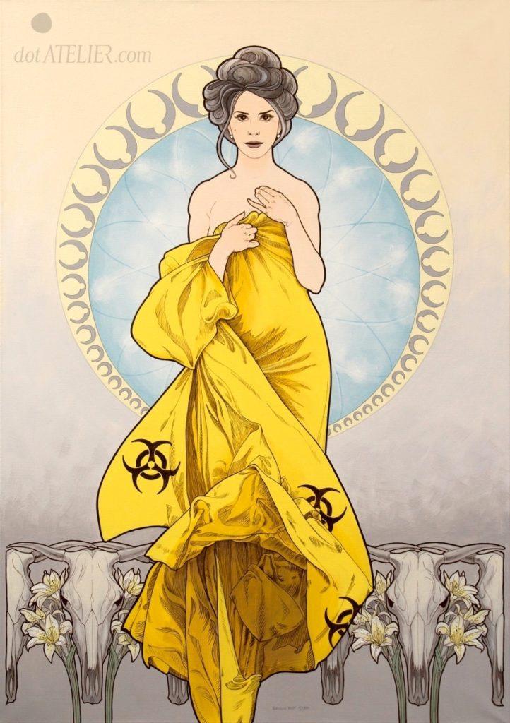 Obraz na plátně na motivy Alfonse Muchy
