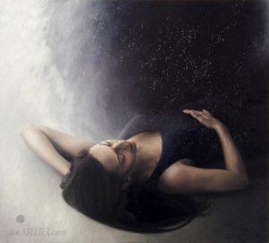 Obraz s ležící ženou
