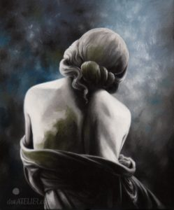 Malovaná záda dívky