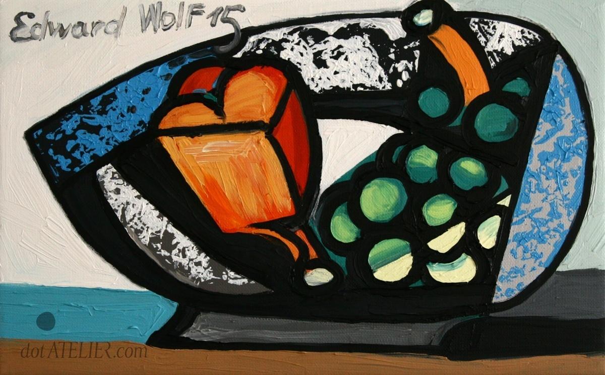Emil Filla – kopie obrazu Zátiší s vínem – Kubismus – Emil Filla – kopie obrazu Zátiší s vínem